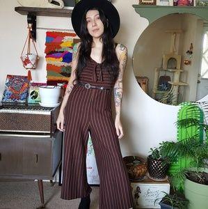 Wide Leg Striped Jumpsuit